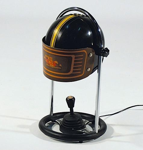 lampe casque noire
