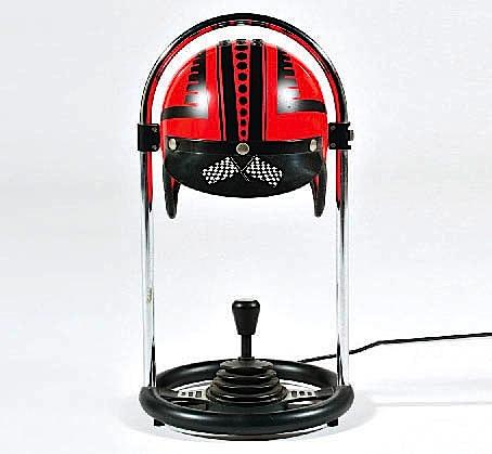 lampe casque rouge