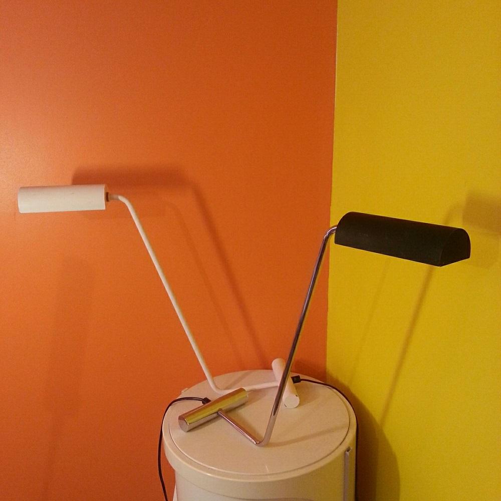 paire lampes chromée et blanche (1)