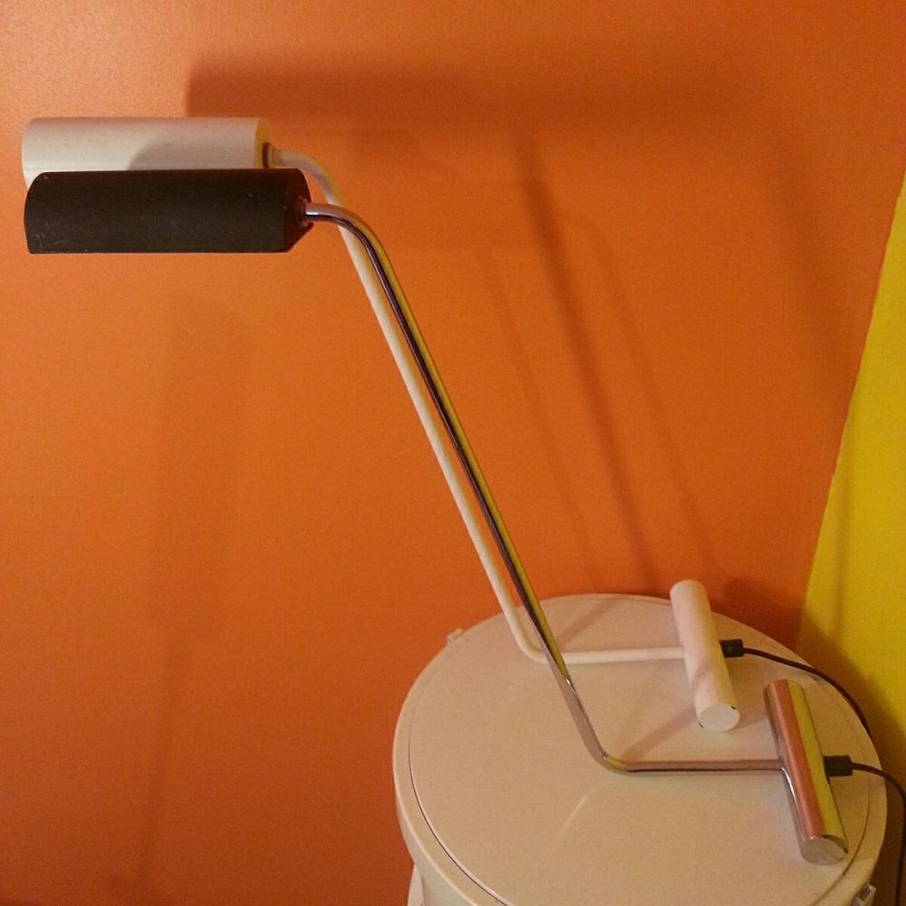 paire lampes chromée et blanche (2)
