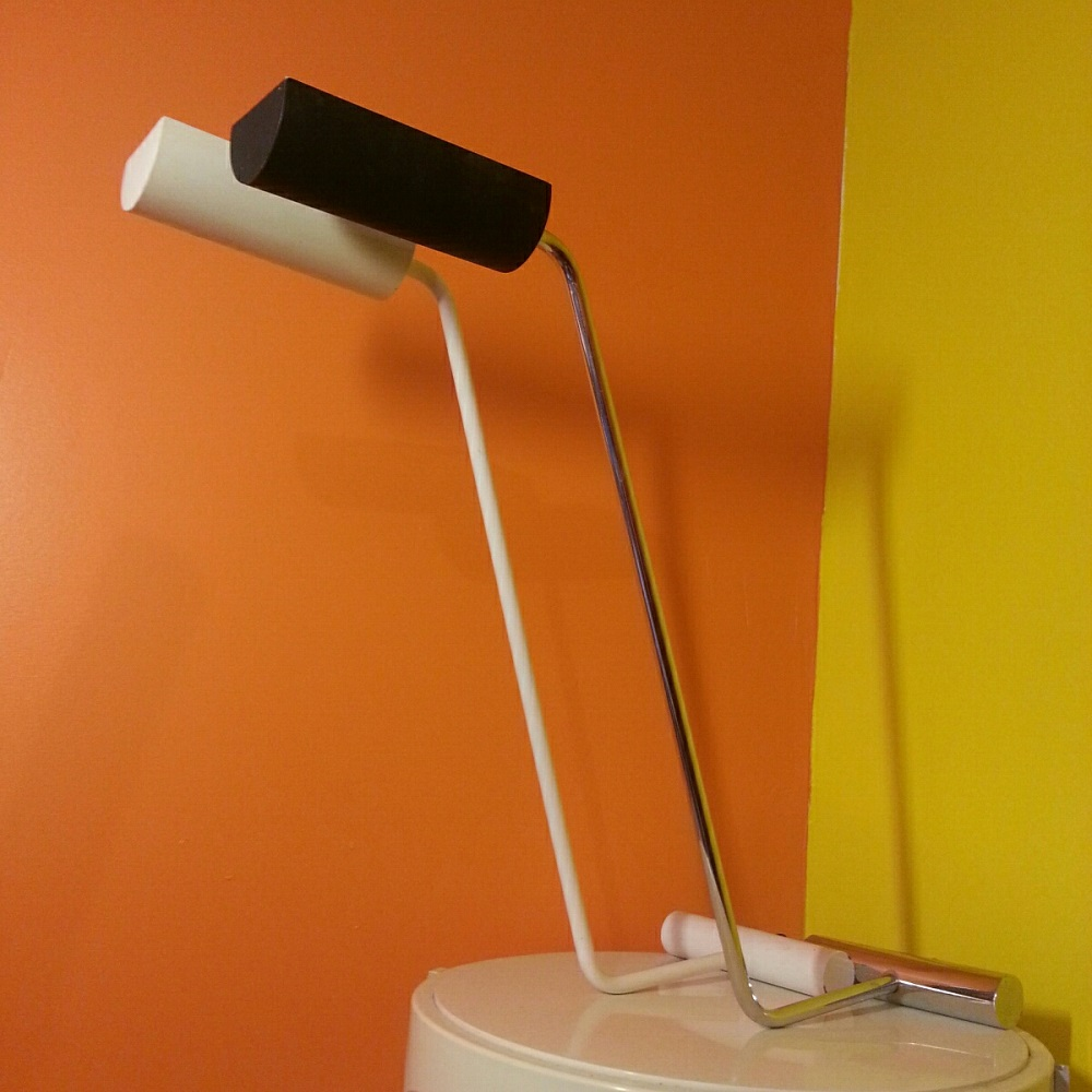 paire lampes chromée et blanche (4)