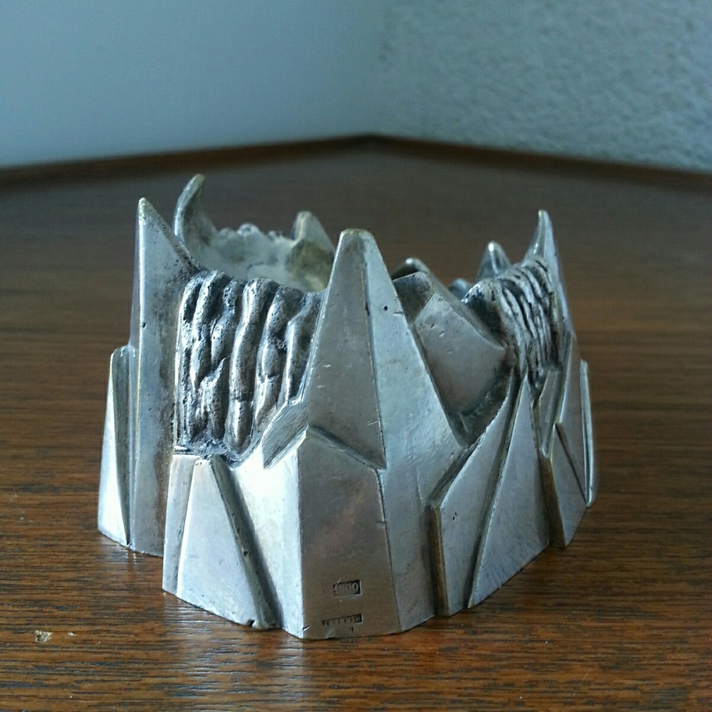 cendrier montagne art deco bronze argente (2)