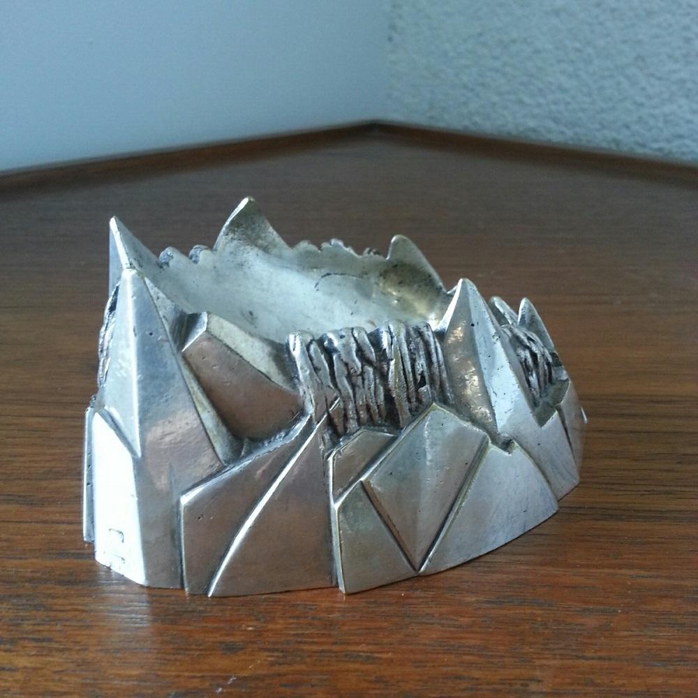 cendrier montagne art deco bronze argente (3)