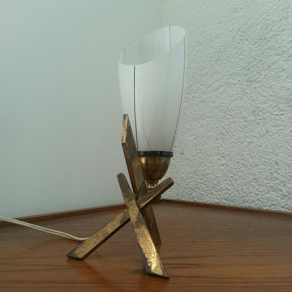 lampe tripode lation lamp 60 vintage croix (1)