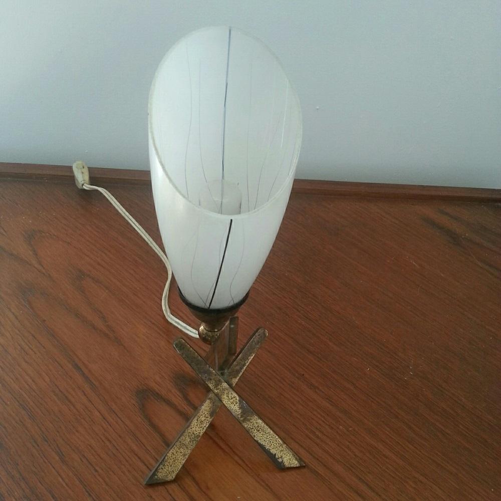 lampe tripode lation lamp 60 vintage croix (2)