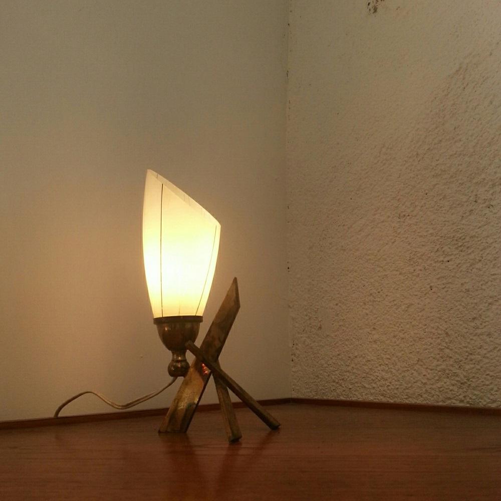 lampe tripode lation lamp 60 vintage croix (4)