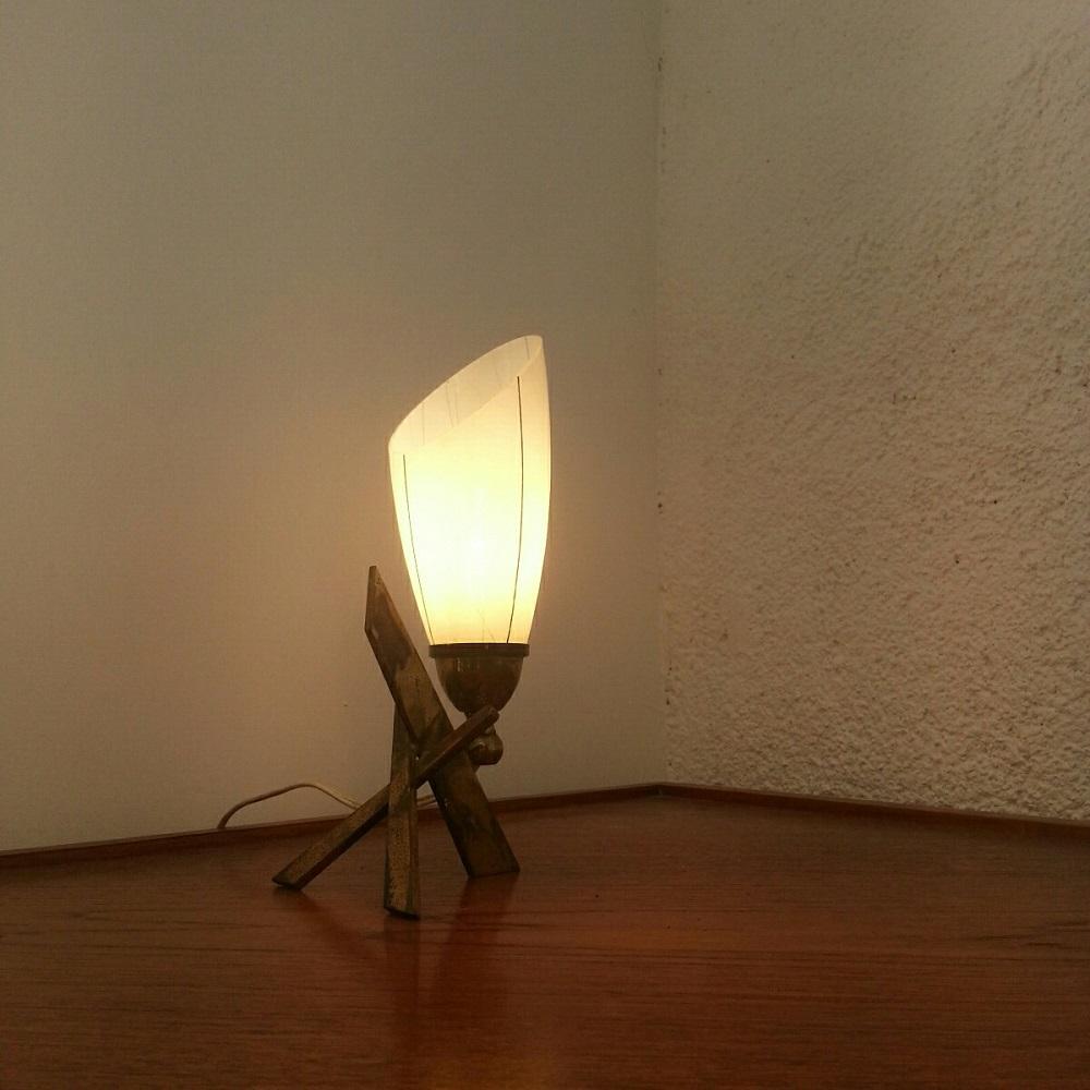 lampe tripode lation lamp 60 vintage croix (5)