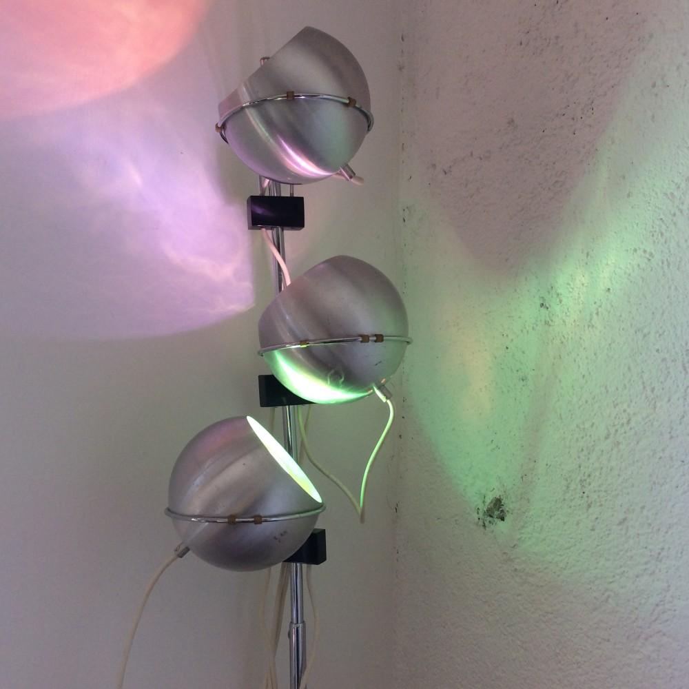 lampadaire reggiani 3 boules aluminium (4)
