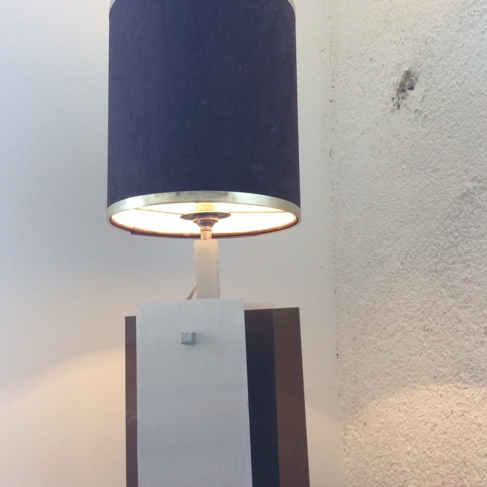 lampe plexi fumé et aluminium (3)