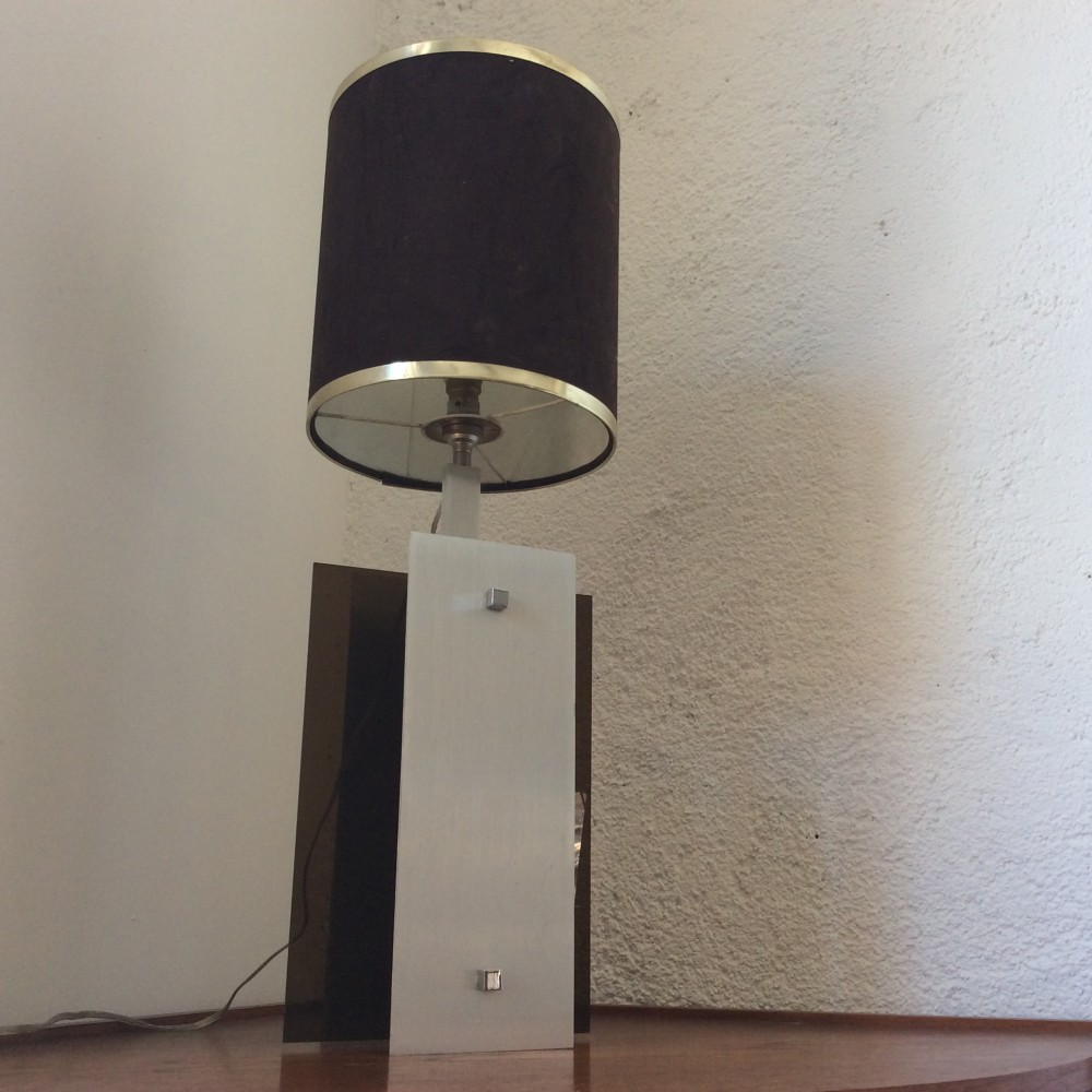 lampe plexi fumé et aluminium (6)