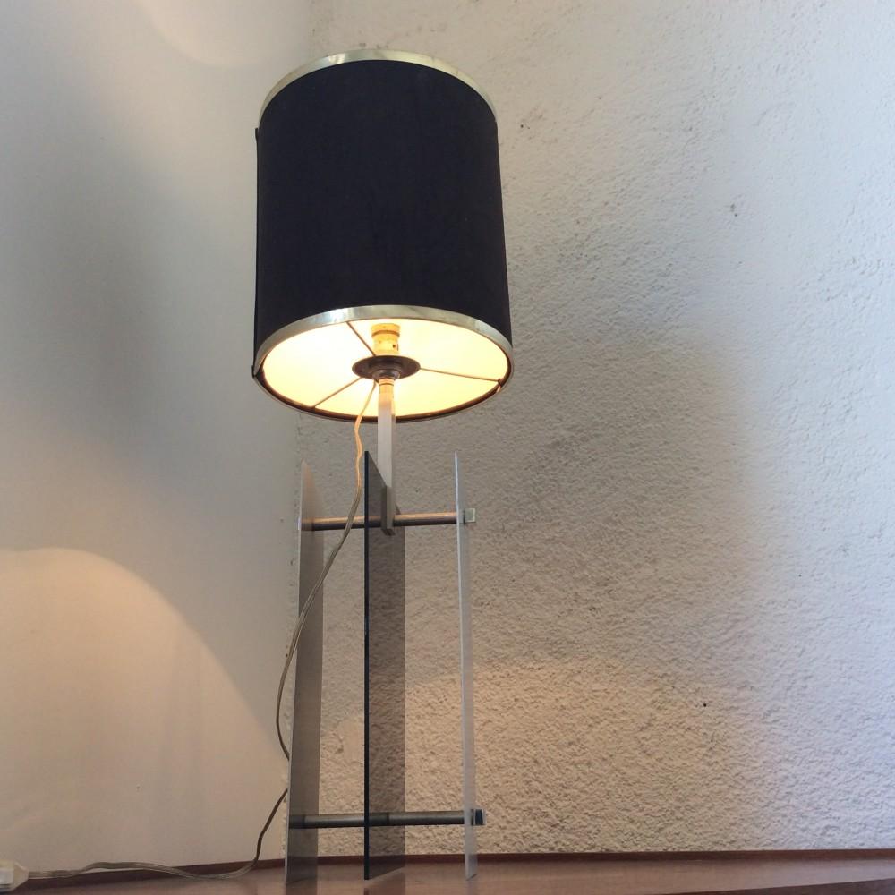 lampe plexi fumé et aluminium (7)