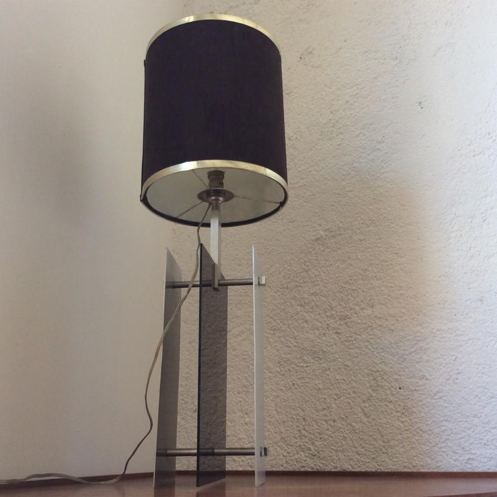 lampe plexi fumé et aluminium (8)