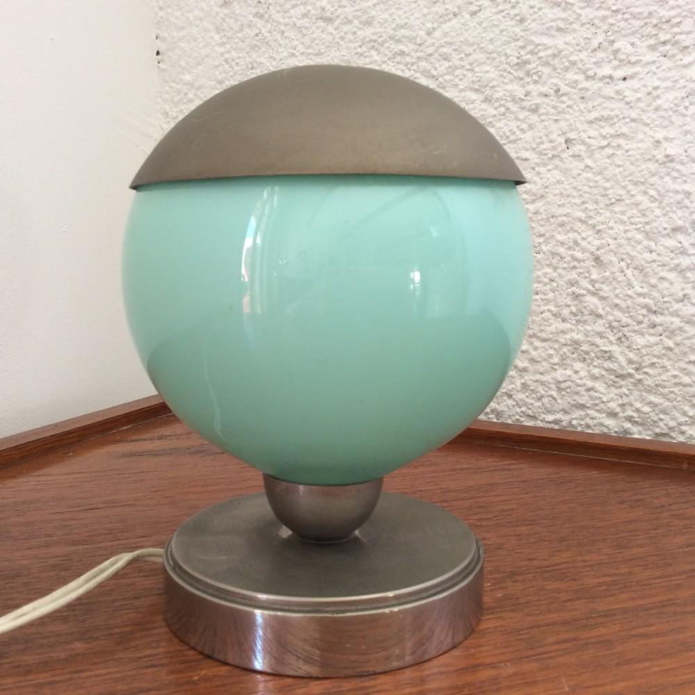 lampe turquoise à chapeau (2)