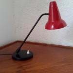 Lampe à double rotules rouge et noire
