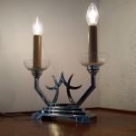 Lampe moderniste double lumière