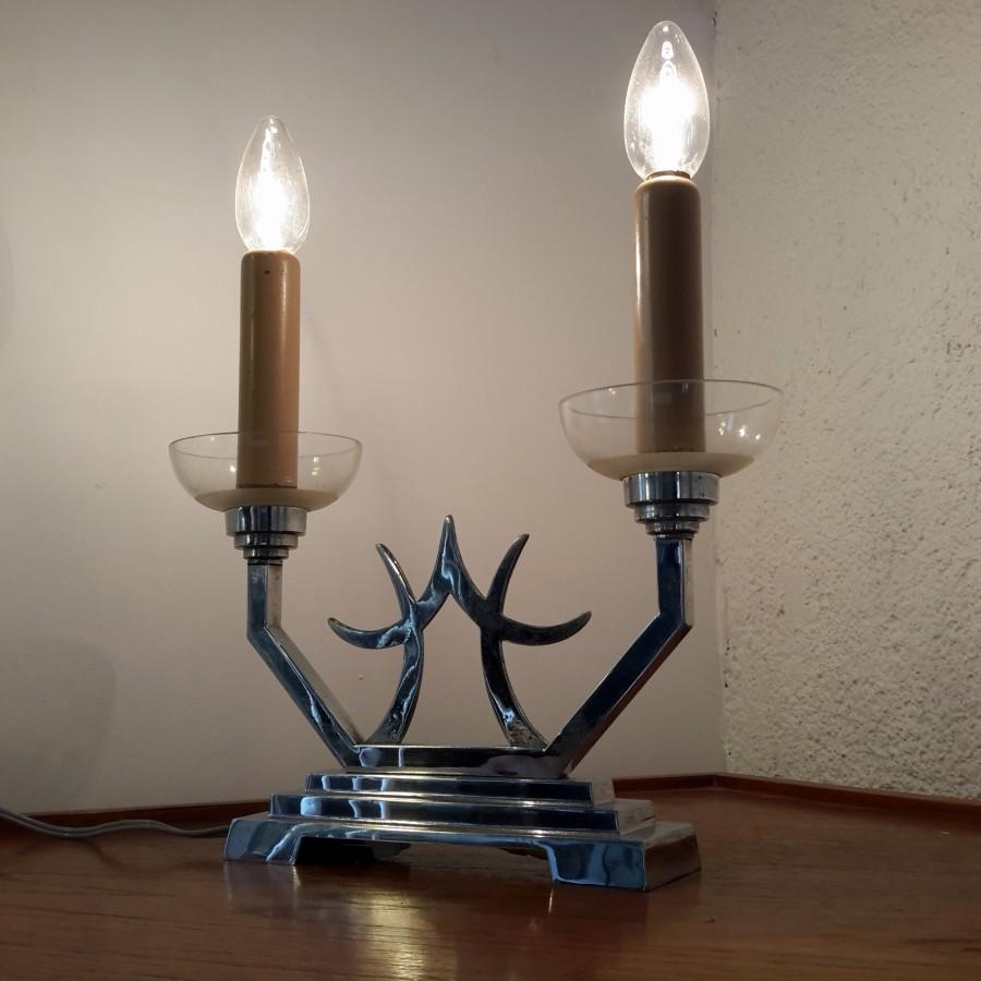 lampe art deco double bougie (3)
