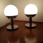 Paire de lampes boule Reggiani