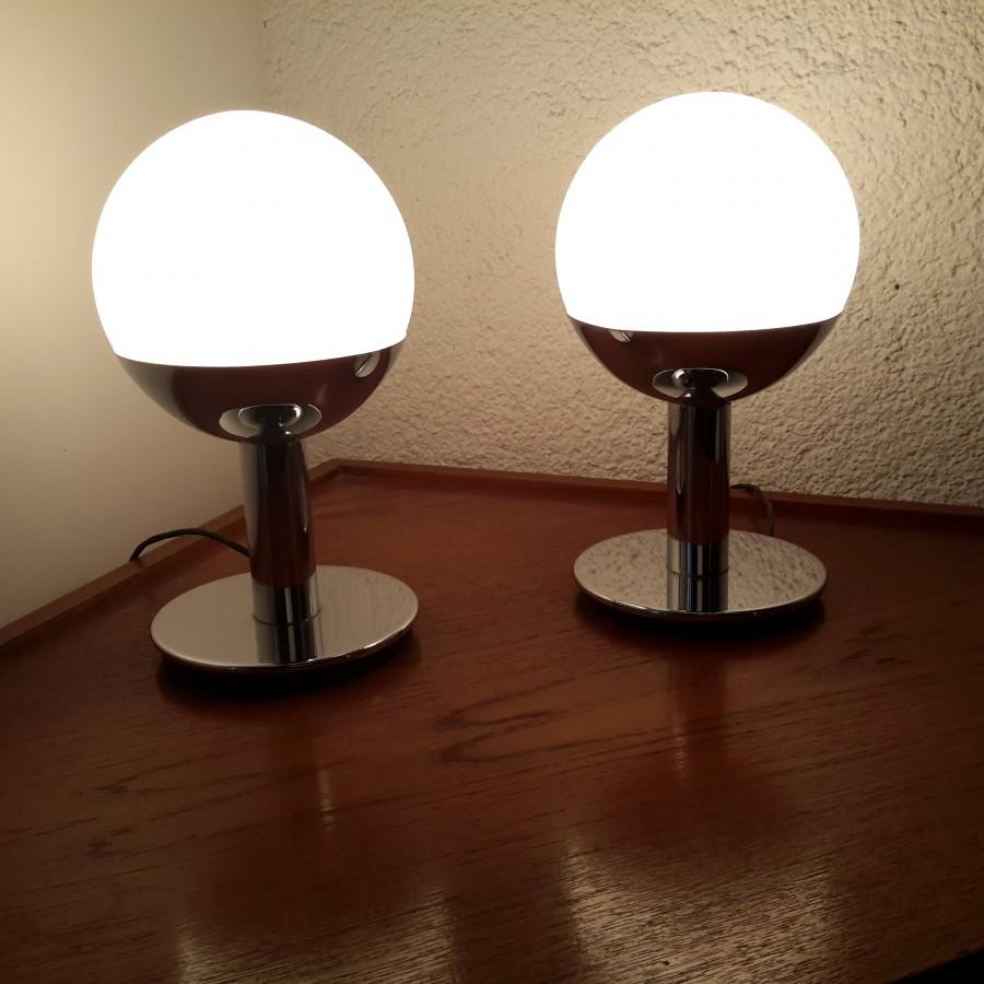 paire de lampe boule tulipe reggiani (1)