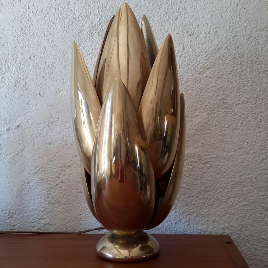 lampe maison charles fleur lotus bronze (6)
