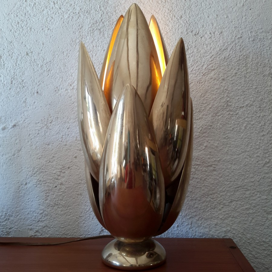 lampe maison charles fleur lotus bronze (7)