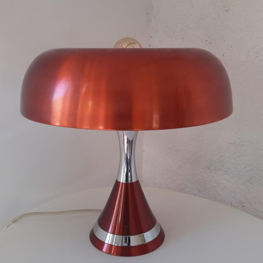 grande lampe 70 champignon cuivrée (1)