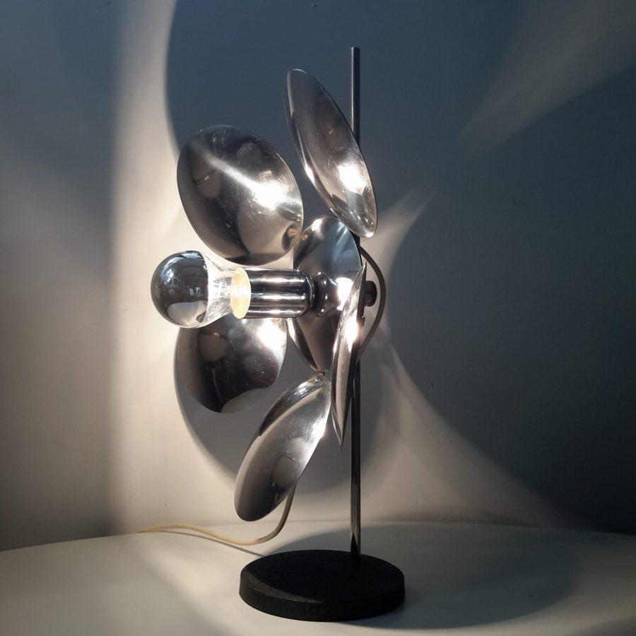 Lampe fleur chromée - Lampodrome