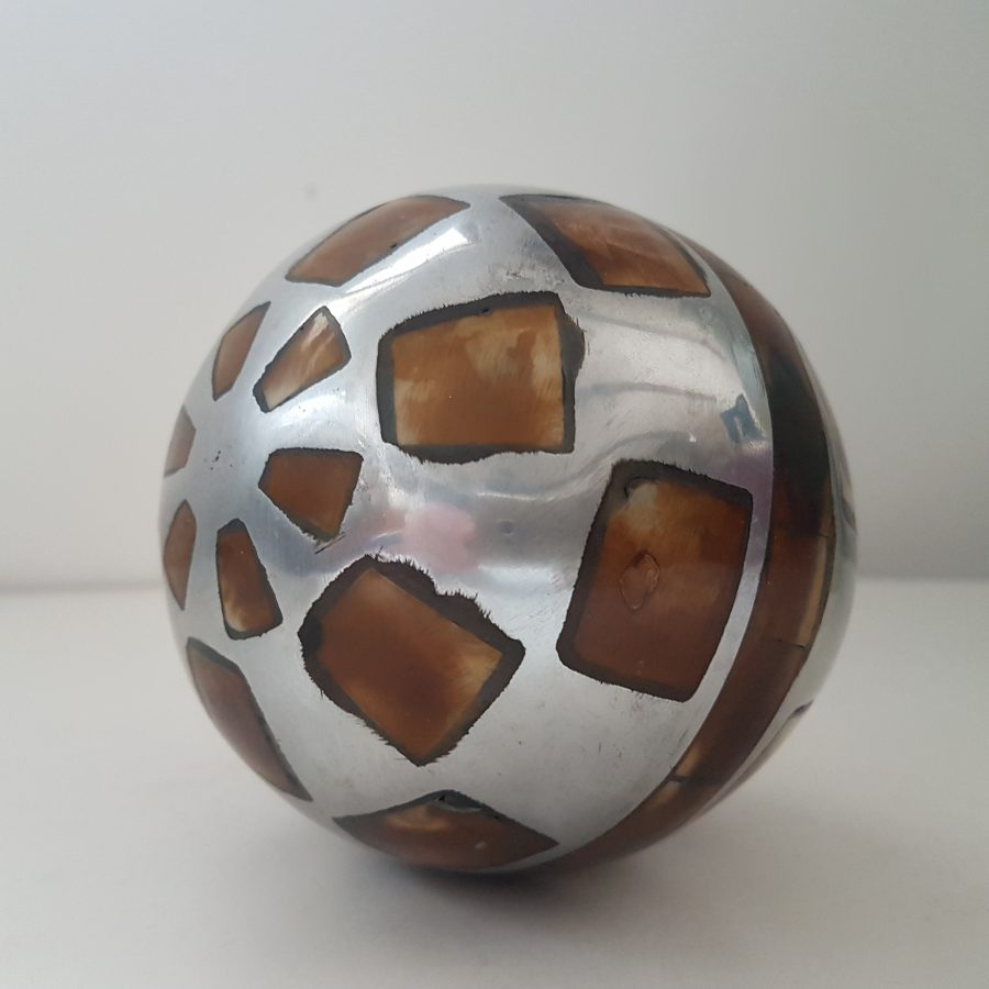 boule d'aluminium à incrustation d'os (3)