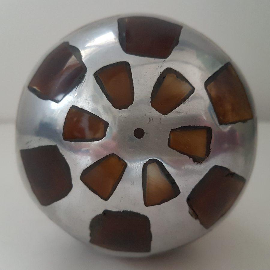 boule d'aluminium à incrustation d'os (8)