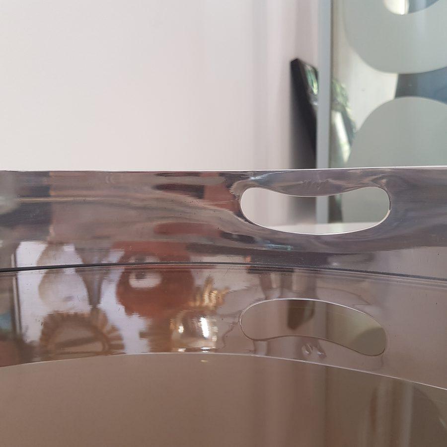 plateau design en métal argenté (3)