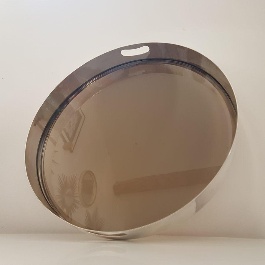 plateau design en métal argenté (5)