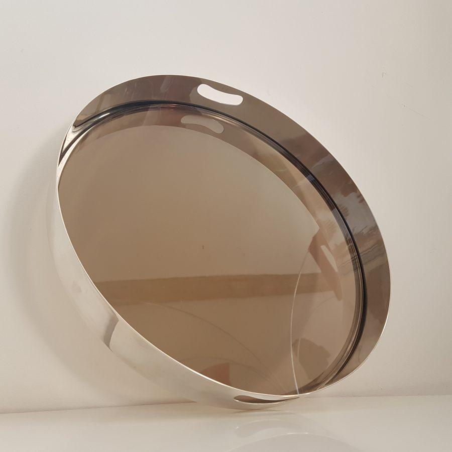 plateau design en métal argenté (6)