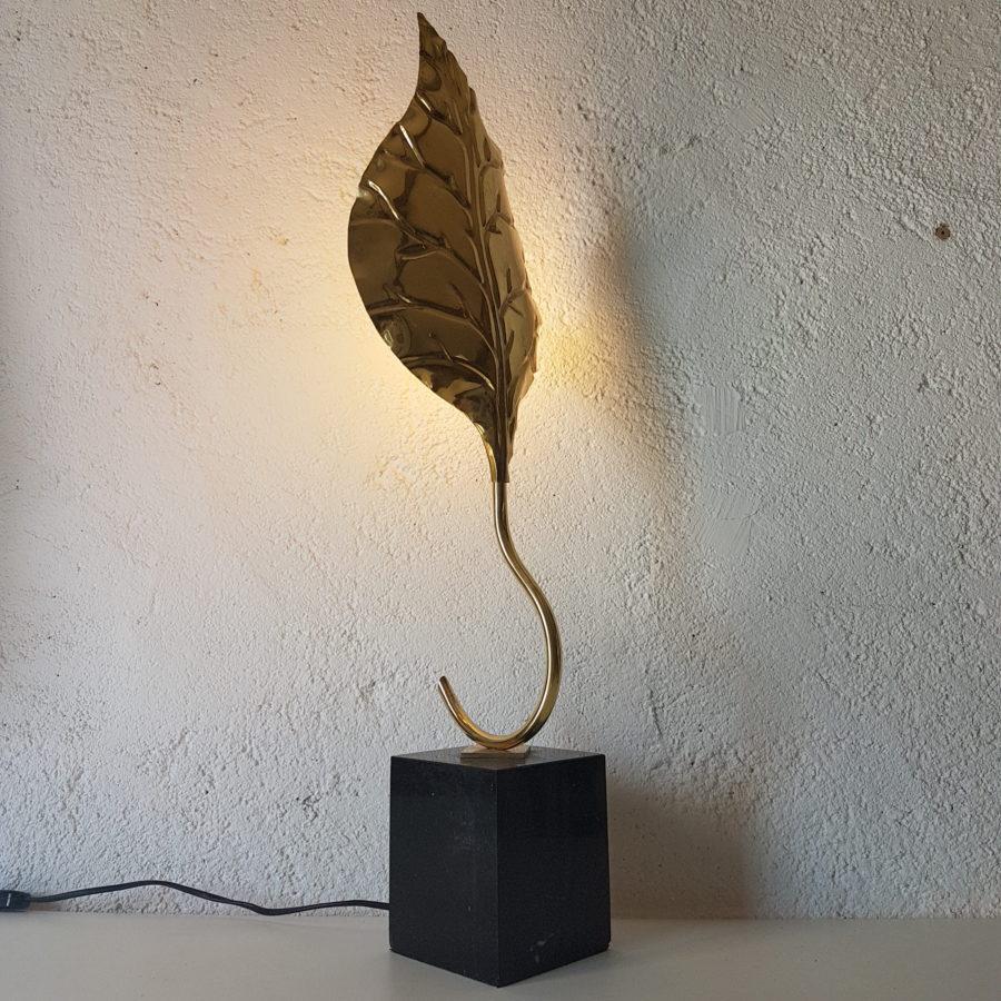 lampe feuille dorée (10)