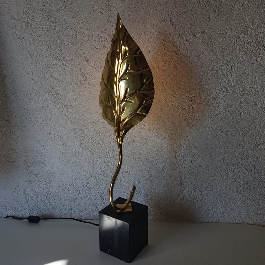 lampe feuille dorée (2)