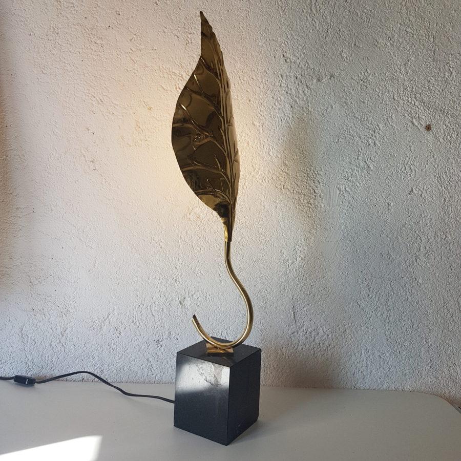 lampe feuille dorée (5)