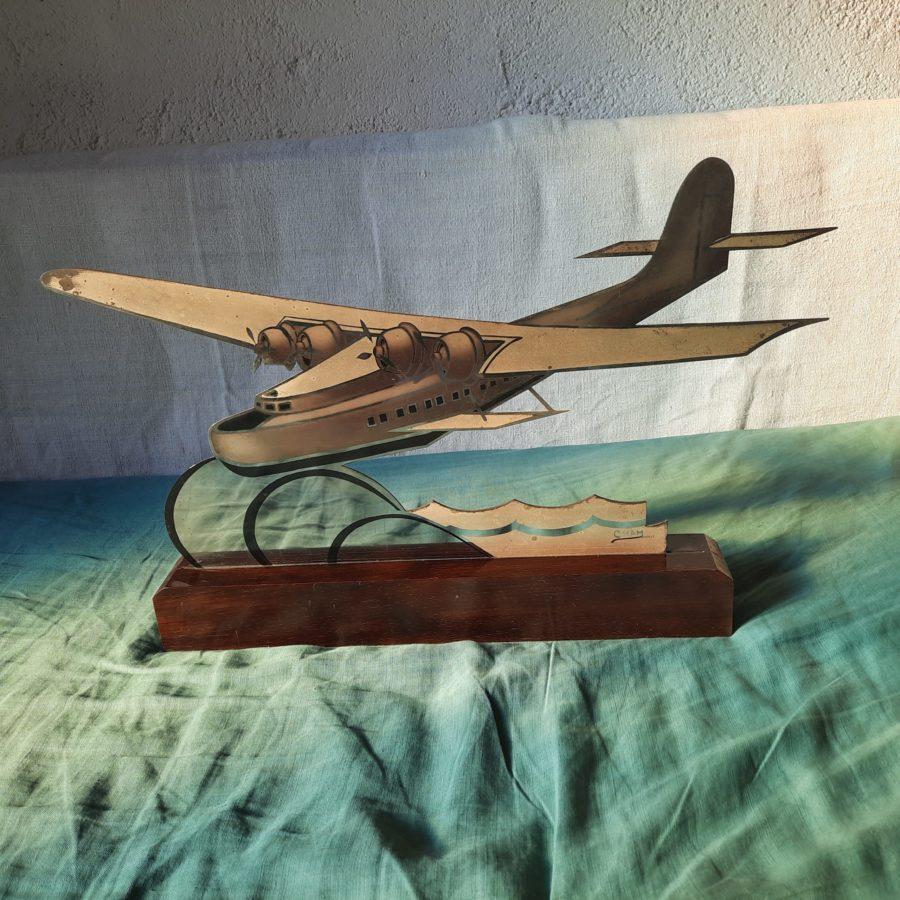 Hydravion art déco Cham en bronze