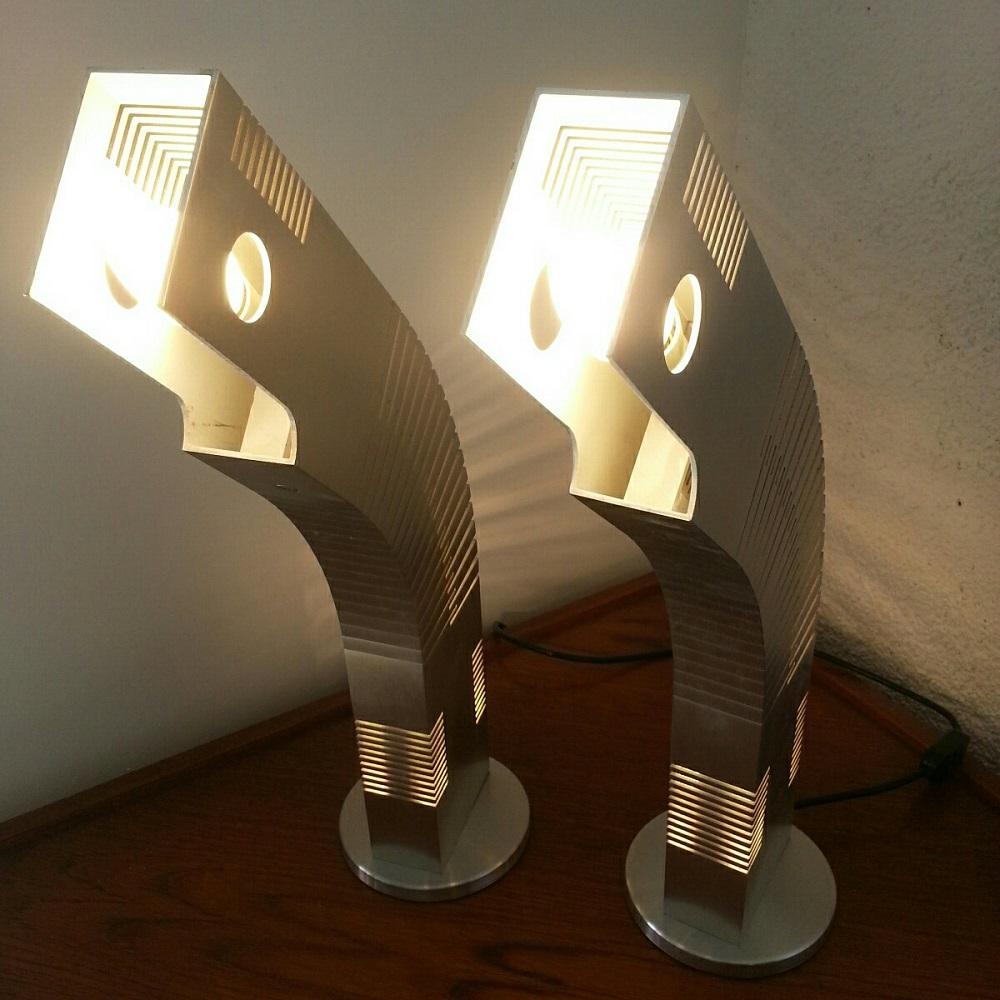 Paire de lampes poissons Henri Mathieu