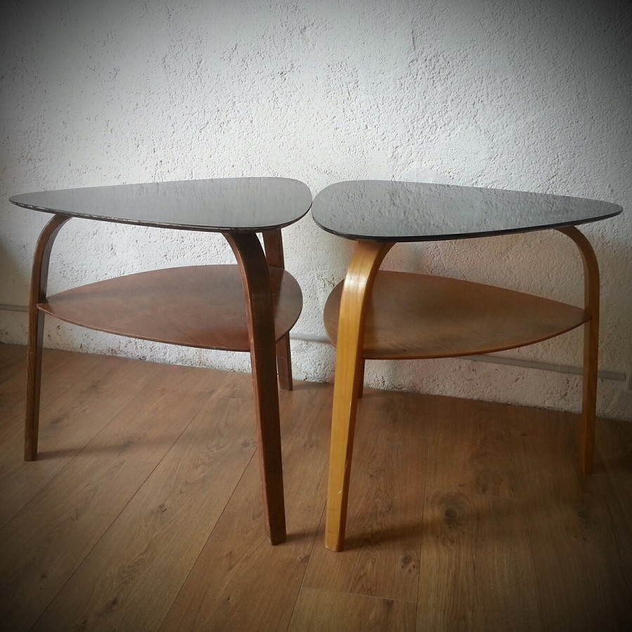 Table basse tripode Bow Wood Steiner