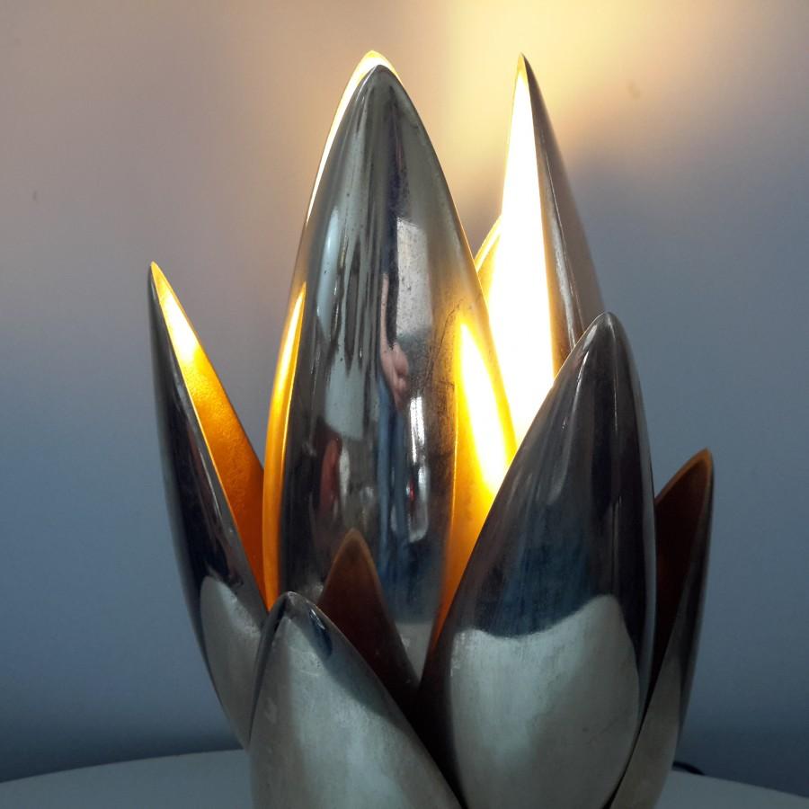 lampe-fleur-dorée