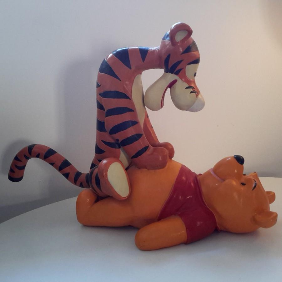 Sculpture Winnie et Tigrou